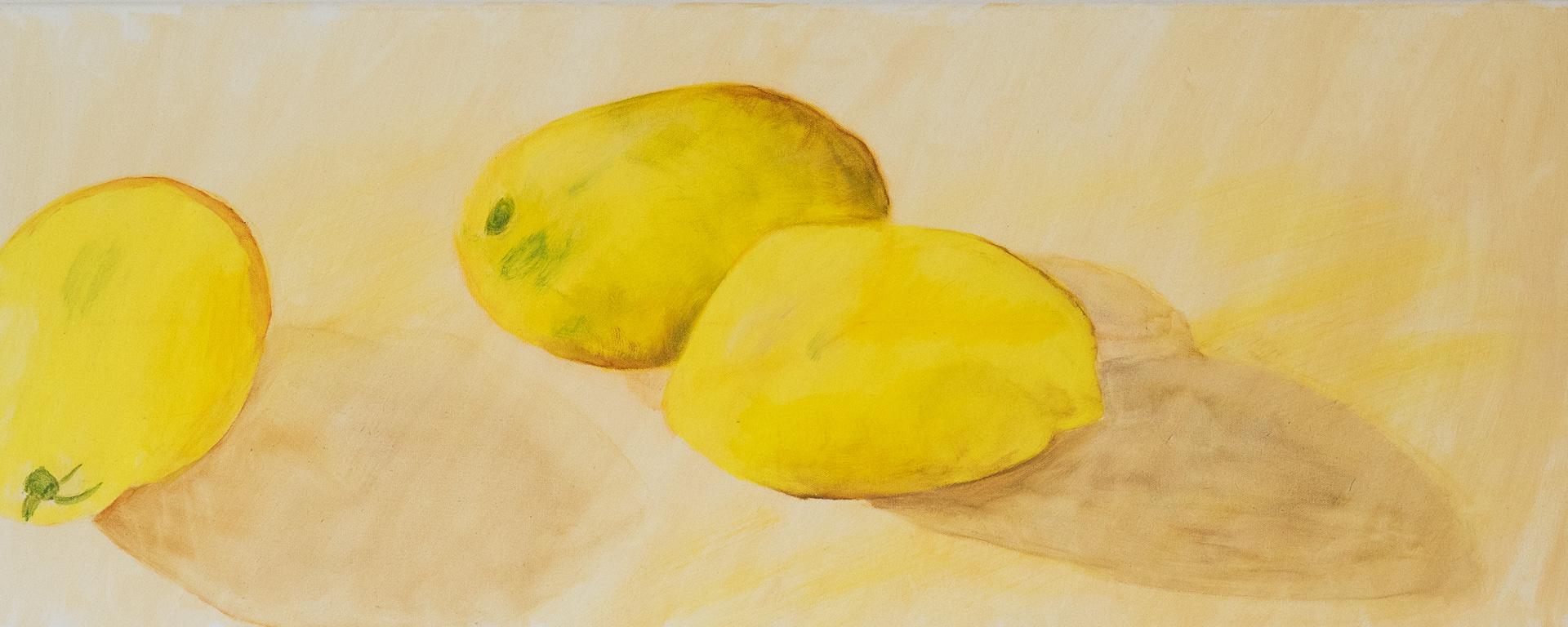 Zitronen - Acryl auf Leinwand 40 100