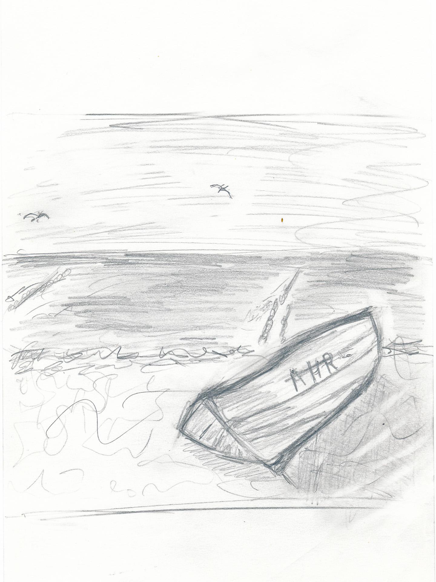 Ruderboot am Strand