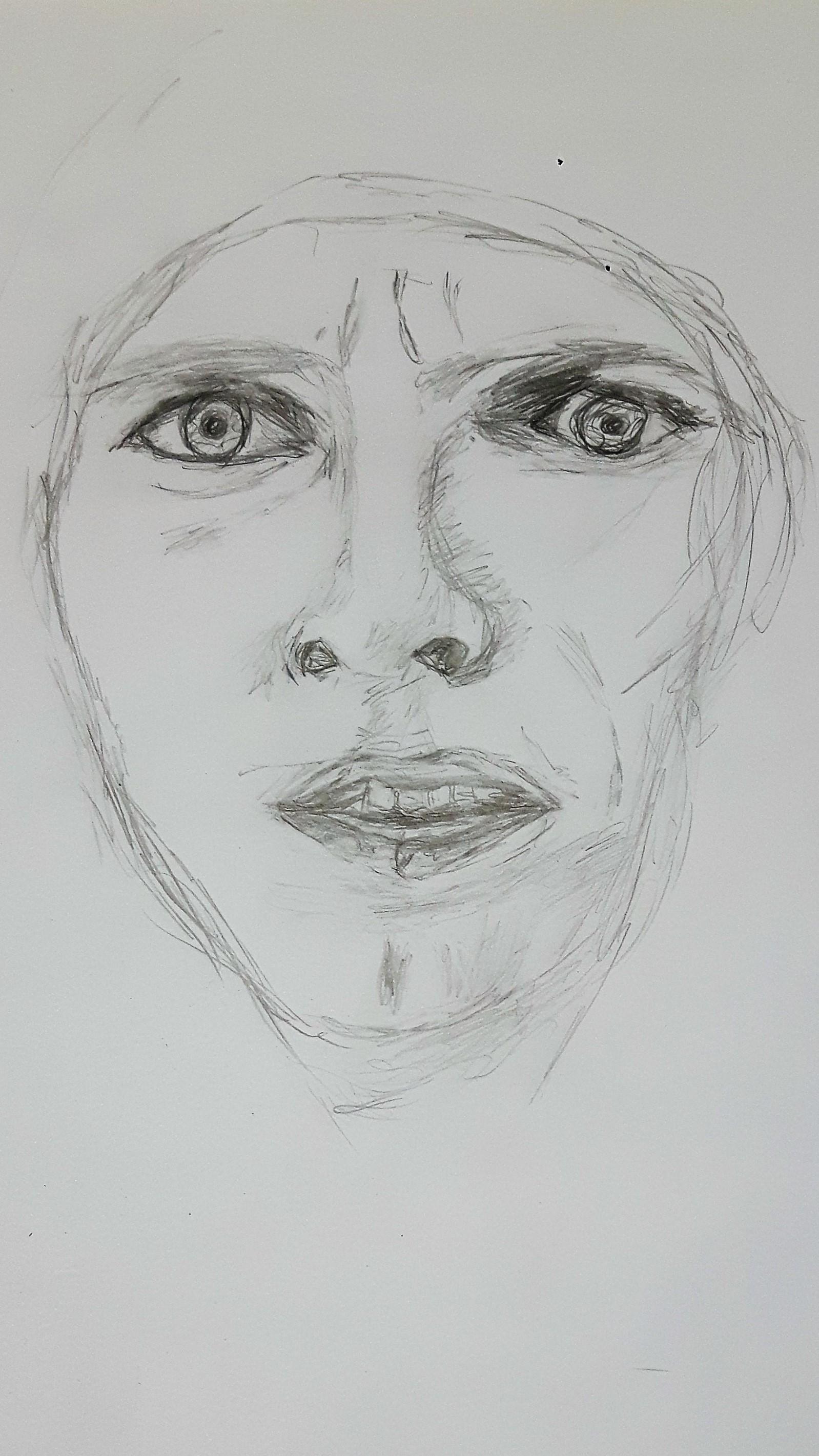 Bild Portrait Zeichnung