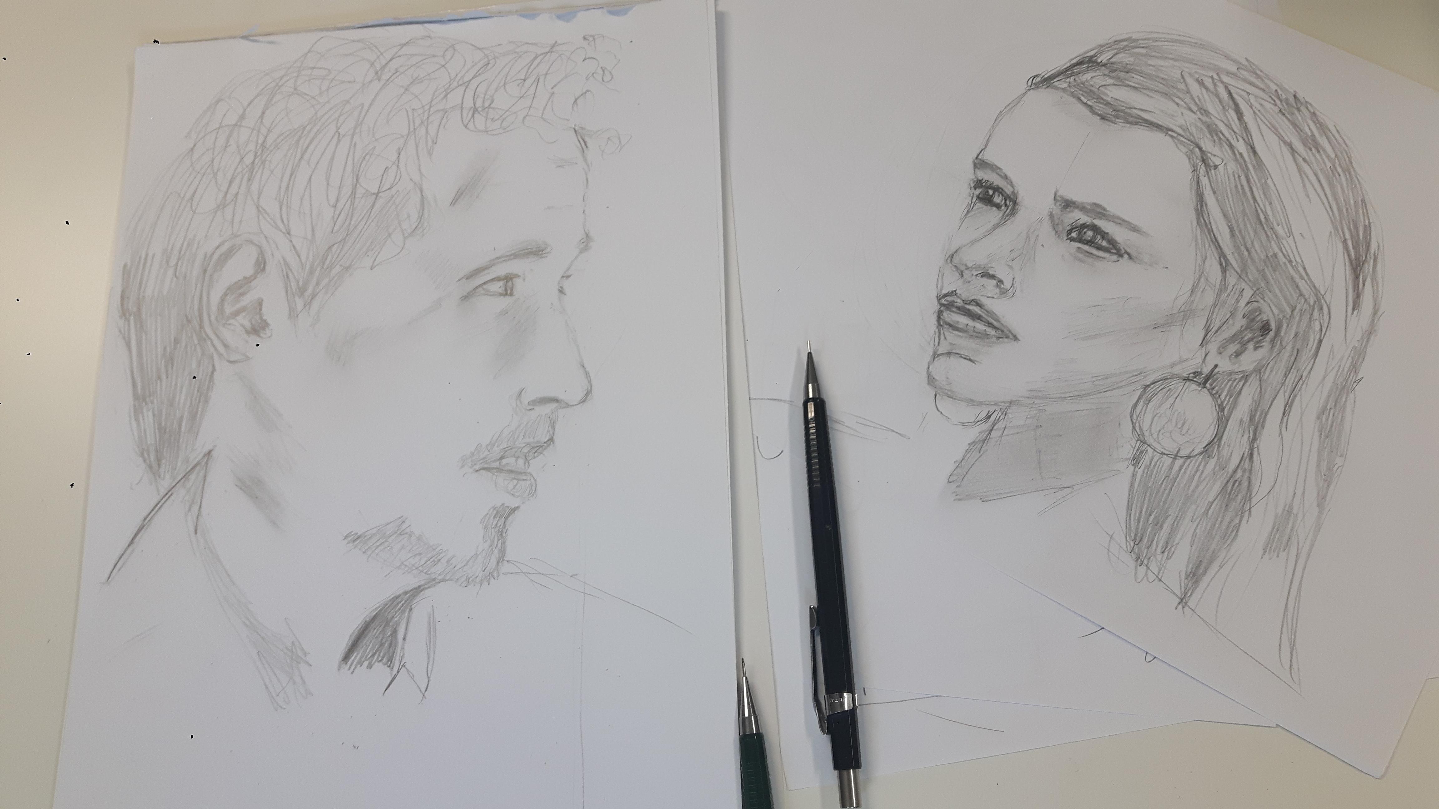 Thomas Altena Bleistiftzeichnung WS Lust auf Portrait?!
