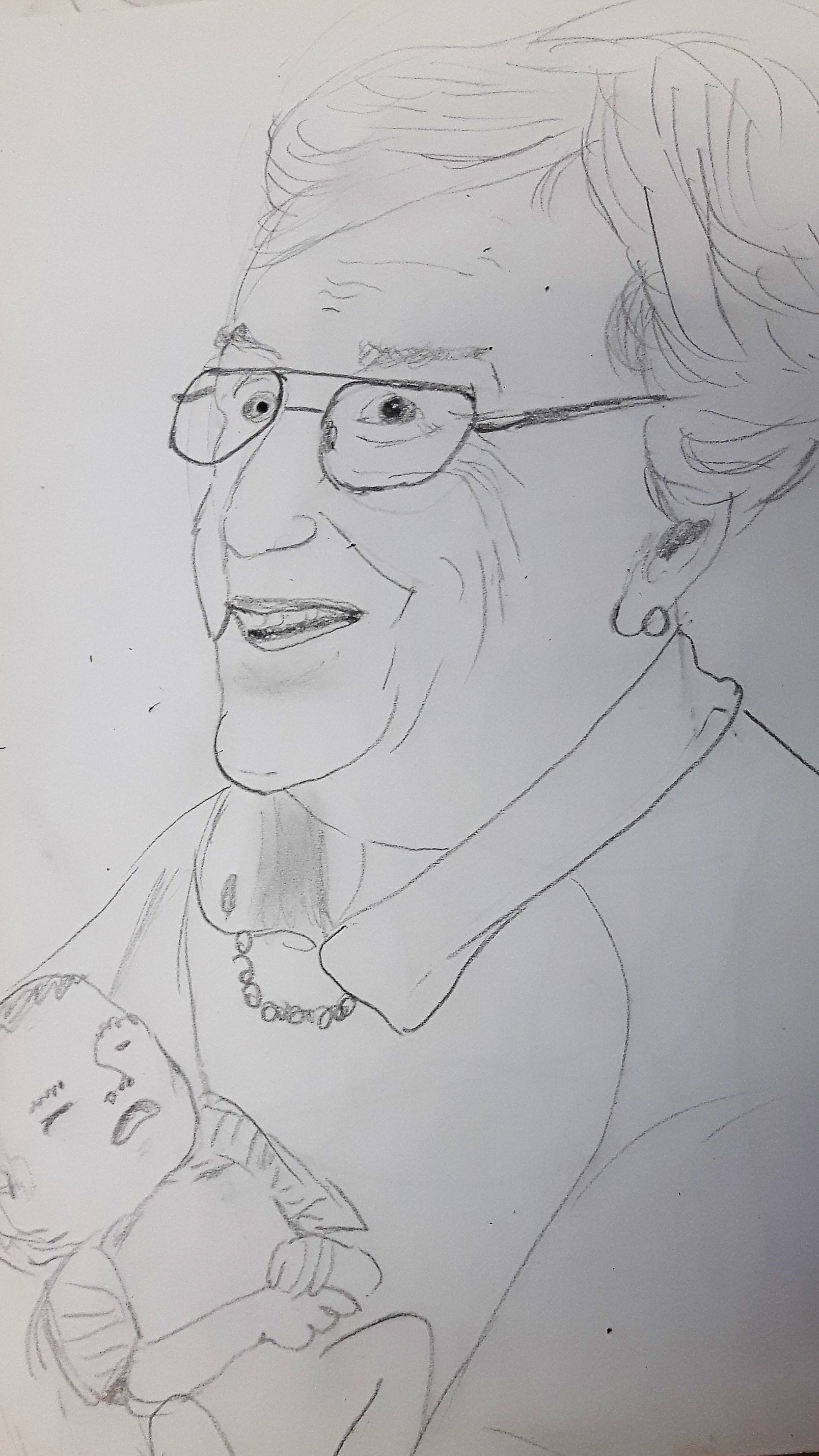 Dorothea Stemmer Bleistiftzeichnung WS Lust auf Portrait?!