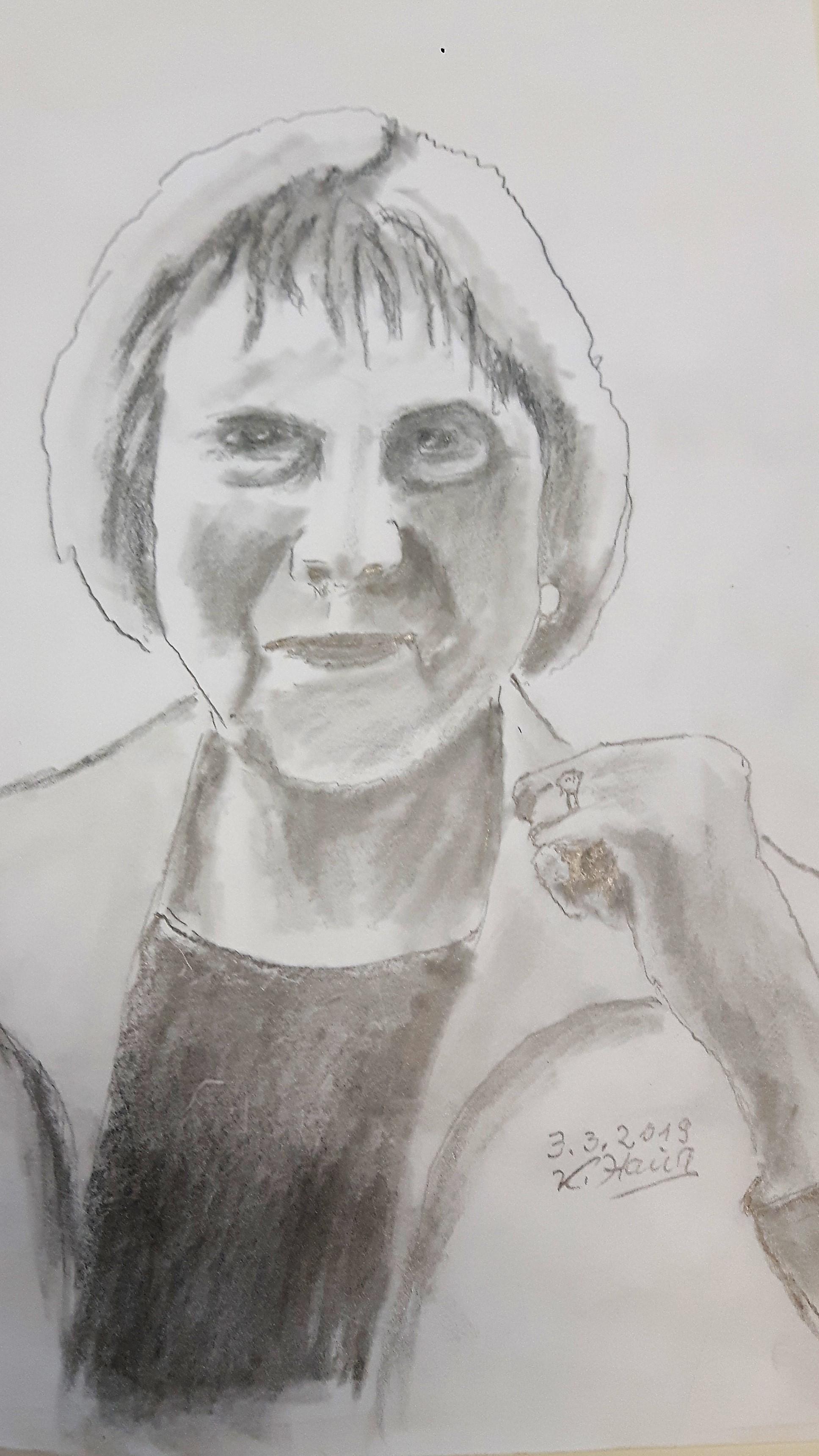 Karl Haug Bleistiftzeichnung WS Lust auf Portrait?!
