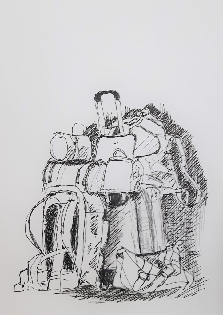 Zeichnung Urlaubsgepäck